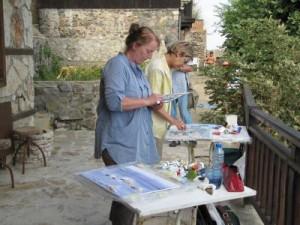 Немски художници рисуват Стария Созопол 1