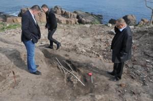 Дъждът изми скелет при разкопките на нос Скамни в Созопол 3