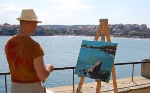 Немски художници отново рисуват Созопол 3