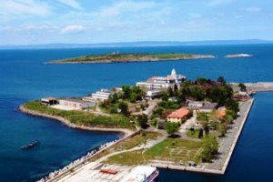 Остров Св. Кирик от птичи поглед. Снимка старши лейтенант Валентин Георгиев