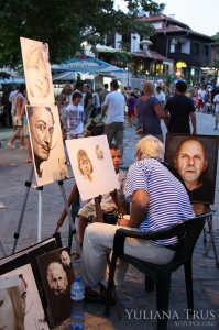 Painting in the ancient town of Sozopol 1
